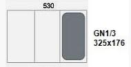 Contenedores Gastronorm de acero inox GN 1/3 (325x176 mm)