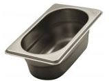 Stainless steel Gastronorm pans GN 1/9 (176x108 mm)