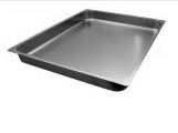 Stainless steel Gastronorm pans GN 2/1 (646x530 mm)