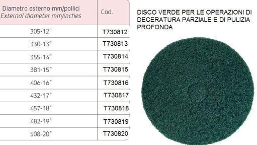 Disco verde per deceratura parziale e pulizia profonda