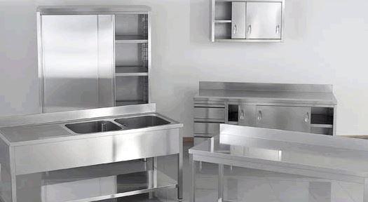 Arredamenti acciaio INOX AISI 304 certificato Linea E40
