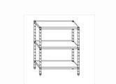 Serie scaffali altezza 150 cm in acciaio inox AISI 304