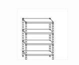 Serie scaffali altezza 200 cm in acciaio inox AISI 304