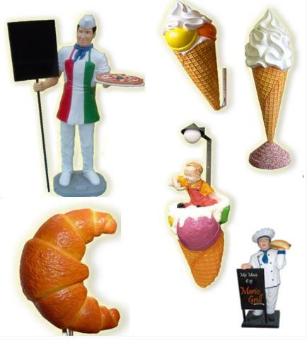 Títeres y figuras tridimensionales para lugares