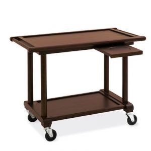 6100W Wooden service trolley, stained wengé, 2 floors