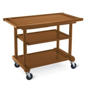 6102 Wooden service trolley, stained walnut, 3 floors