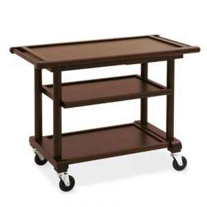 6102W Wooden service trolley, stained wengé, 3 floors