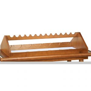 6100E Upper wooden bottle rack 13 places - walnut stained