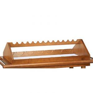 6100EW Portabottiglie superiore in legno 13 posti - tinto wengé