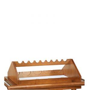 6100F Portabottiglie inferiore in legno 9 posti - tinto noce
