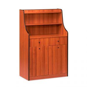 1605 Mobile colore rovere, 2 tramogge, alzatina, 2 cassetti portaposate