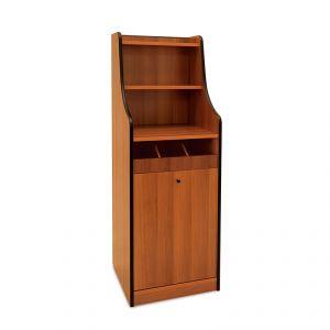 1615F Mobile colore rovere, 1 tramogge, alzatina, 1 cassetto portaposate aperto