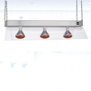 9568S Telaio inox a sospensione con lampade a infrarossi, GN 3/1