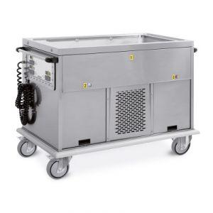 7368A2-F1 Trolley GN 4/1 seul compartiment du réservoir 2 chaud + 1 froid