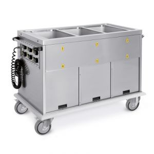 7370A0 Chariot thermique 2xGN 1/1 réservoirs séparés 2 compartiments neutres