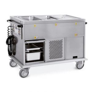 7370A0-F1 Chariot thermique 2xGN 1/1 réservoirs séparés 1 compartiment froid