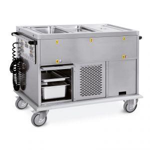 7375A1-F1 Carrello termico 3xGN 1/1 vasche separate vani 1 caldo + 1 freddo