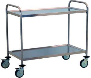 TEC1100 Carrello tecnico acciaio inox professionale 2 piani smontabile PRONTA CONSEGNA