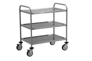 TEC1103 AISI 304 stainless steel Cart Technical 3 shelves