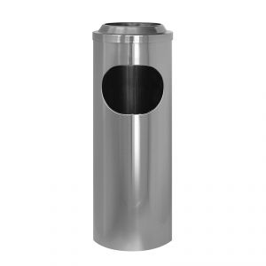 2506 Gettacarta/posacenere inox, coperchio a rete, Ø cm 20x60 h