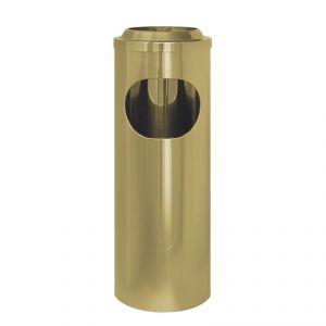 2508 Gettacarta/posacenere ottonato, coperchio a rete, Ø cm 20x60 h
