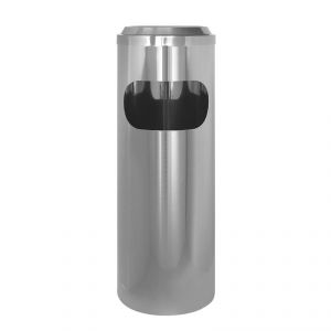 2510 Gettacarta/posacenere inox, coperchio a rete, Ø cm 25x69h