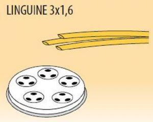 MPFTL3X16-25 Brass bronze alloy nozzles  LINGUINE 3x1,6 for pasta machine