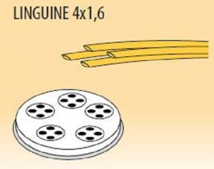 MPFTL4X16-25 Brass bronze alloy nozzles  LINGUINE 4x1,6 for pasta machine