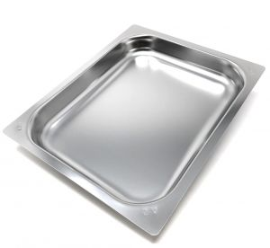 FNC1/2P040 Teglia Gastronorm 1/2 h40 in acciaio inox AISI 304 bordo piano