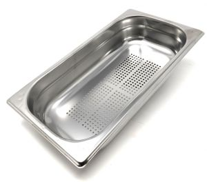 GST1 / 3P065F Gastronorm container 1/3 h65 drilled in stainless steel AISI 304