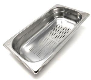 GST1/3P100F Contenitore Gastronorm 1/3 h100 forato in acciaio inox AISI 304