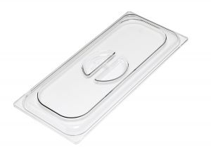 VGCV03 Tapa de policarbonato transparente para envases de helado 330x165 mm