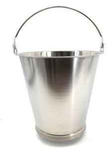 SE-G12B Cubo de acero inoxidable graduado de 12 litros con base