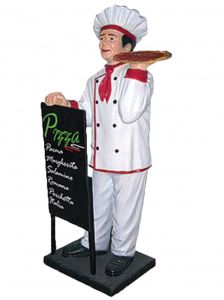 ER005C Pizzaiolo en trois dimensions 140 hauteur
