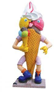 SG008 Gelato Goloso 3D advertising cone for ice-cream parlor, height 215 cm
