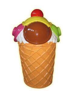 SG089 Helado de basura - Papelera de publicidad 3D para heladería, altura 135 cm