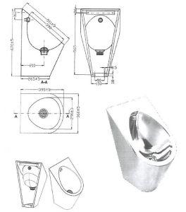 """LX3600 Professional Urinal """"GQ"""" - glossy"""