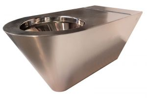 LX3740 Professional Disabled WC suspended in Aisi 304 stainless steel with polished interior finish