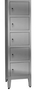 IN-695.05.430 Multivano wardrobe in 430 stainless steel - 5 seats