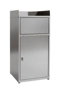 IN-701.01.430 Cabinet waste bin empties trays in AISI 430 stainless steel - Dim. 60x60x120 H