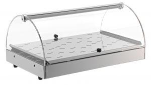 VET7010 Stainless steel heated showcase 1 shelf