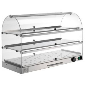 VET7035 Stainless steel heated showcase 3 shelves 80x35x54h