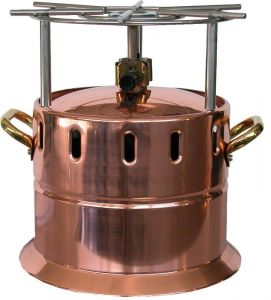 AV4561 Copper flambé gas-lamp with stainless steel grill