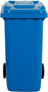 TAV 4675 Portarifiuti polietilene blu 2 ruote 120 litri