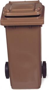 AV4679 Contenedor de residuos marrón 2 ruedas 100 litros