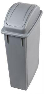 T102210 Wastebin with swing lid Grey Polypropylene 90 liters