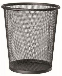 T150131 Corbeille à papier perforée Metal noir 13 litres