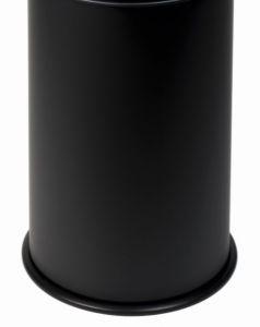 T770501 Seau pour poubelle antifeu Noir 50 litres SANS COUVERCLE