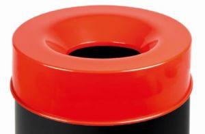 T770567 Tete anti-feu rouge pour poubelle 50 litres SEULEMENT COUVERTURE
