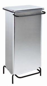 T790724 Stainless steel static pedal waste bin 110 liters